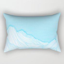 Lines in the mountains - Aqua Rectangular Pillow