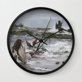 The last mermaid of the northern seas Wall Clock