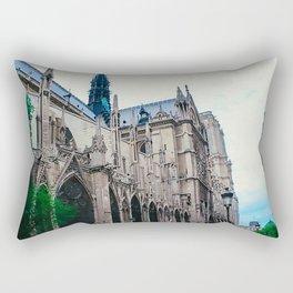 Notre Dame Greenery Rectangular Pillow