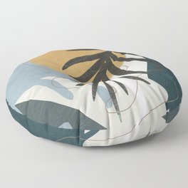 Abstract Tropical Art II Floor Pillow