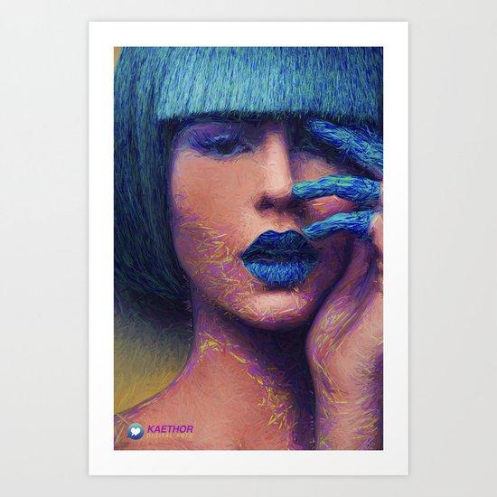 Blue - Illustration Art Print