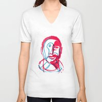 contact V-neck T-shirts featuring Contact by NedKamburov