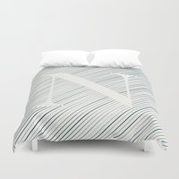 striped Duvet Covers featuring Striped N by DLUTED DESIGN