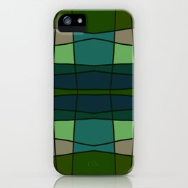 Green Pattern Turtle iPhone Case