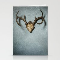 antlers Stationery Cards featuring Antlers by Joyce Vincent