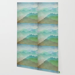 Watercolor Hills Wallpaper