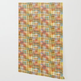 Multicolored patchwork mosaic pattern Wallpaper