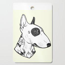 Bull Terrier dog Tattooed Cutting Board
