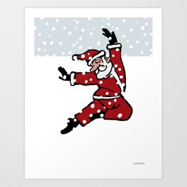Dancing Santa - 8 Art Print