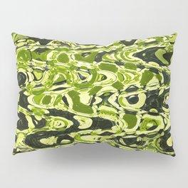 Green Forest Abstract Pillow Sham