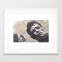 kerouac Framed Art Prints featuring Kerouac, Radio by Hosho McCreesh