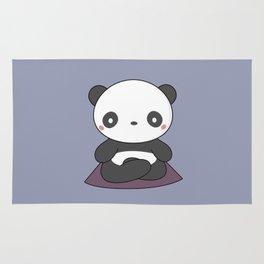 Kawaii Cute Yoga Panda Rug
