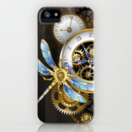Dials with Dragonfly ( Steampunk ) iPhone Case