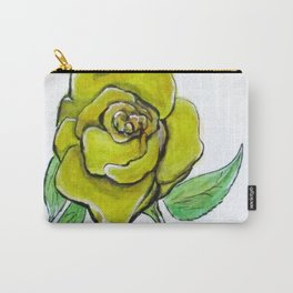 Yellow-Green Rose Carry-All Pouch