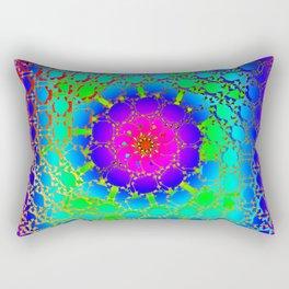 Colored net mandala pattern Rectangular Pillow
