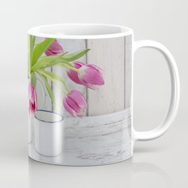 pink spring tulip still life country style Coffee Mug