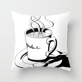 Coffee Sips Throw Pillow