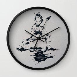 Splaaash Series - Lan Lan Ink Wall Clock