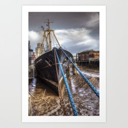 The Artic Corsair, old Fishing Trawler Art Print