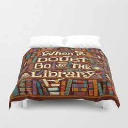 Go to the library Duvet Cover