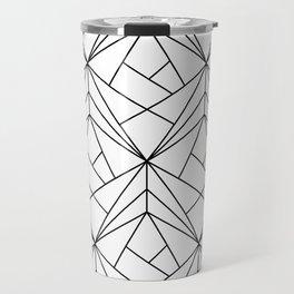 Black and White Geometric Pattern Travel Mug
