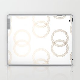 Simply Infinity Link in White Gold Sands on White Laptop & iPad Skin