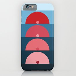 Geometric Shapes in Sunrise Sunset Abstract iPhone Case