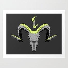 Goat Skull Art Print