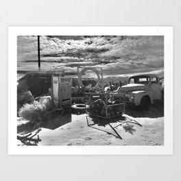 Aviation Boneyard, Mojave Desert, CA -- Famous Band Music Video Shoot, 2016 Art Print