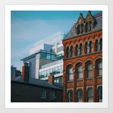 Old meets new in Manchester Art Print