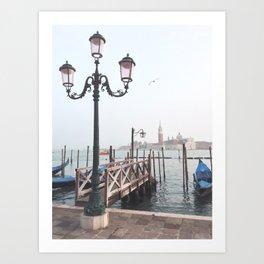 Venetian evening Art Print