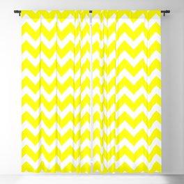 Yellow and White Chevron Pattern Blackout Curtain