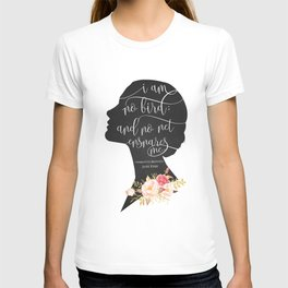 I am no Bird - Charlotte Bronte's Jane Eyre T-shirt