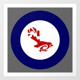 Fantail Air Force Roundel Art Print