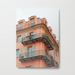 Colorful Building In Nice, France Photo | French Architecture Travel Photography Art Print | Colors Of Europe Metal Print