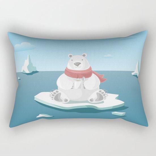 Polar breakfast Rectangular Pillow