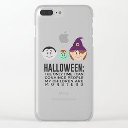 My Children Are Monsters Halloween Design Clear iPhone Case