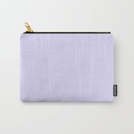 Solid Light Lilac Carry-All Pouch