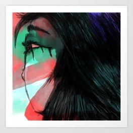 Girl with Tears Art Print