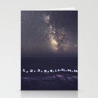 fibonacci Stationery Cards featuring Fibonacci Sequence under the Stars by Shaun Lowe