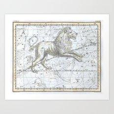 Vintage Leo Constellation Art Print