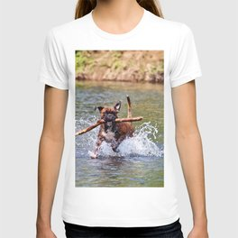 Bailey Plays in the River T-shirt