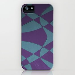 Wings and Sails - Purple and Light Blue iPhone Case