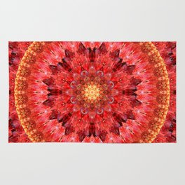 Crystal Fire Mandala Rug
