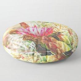 Iridescent Cactus Flower Floor Pillow