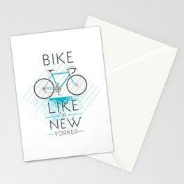 Bike like a new yorker Stationery Cards