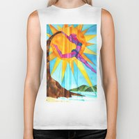 brand new Biker Tanks featuring Brand New Day by Heather Torres Art