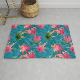 Colorful watercolor flowers No2 Rug
