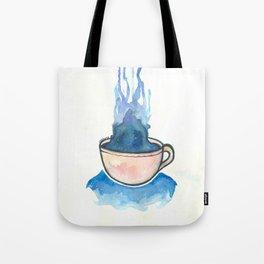 Space, tea, ocean Tote Bag