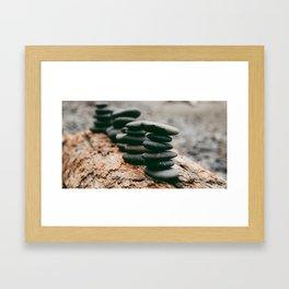 Rock Stack Framed Art Print
